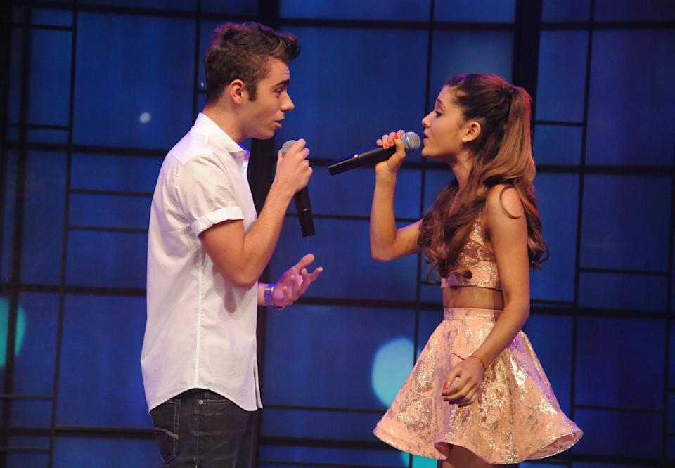 LIVE WITH KELLY AND MICHAEL -9/5/13 - Ariana Grande performs with Nathan Sykes of The Wanted on