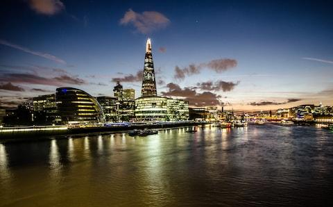 A verified whopper. The Shard, at 310 metres, towers over the London skyline - Credit: Getty