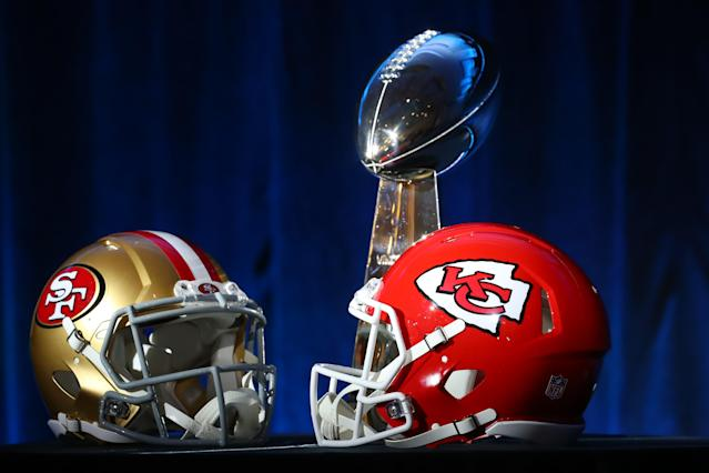 The 49ers and Chiefs will battle in Super Bowl LIV. (Photo by Rich Graessle/PPI/Icon Sportswire via Getty Images)