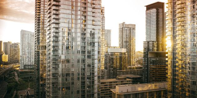 Condos and apartments in downtown Toronto. Ontario is among four provinces with