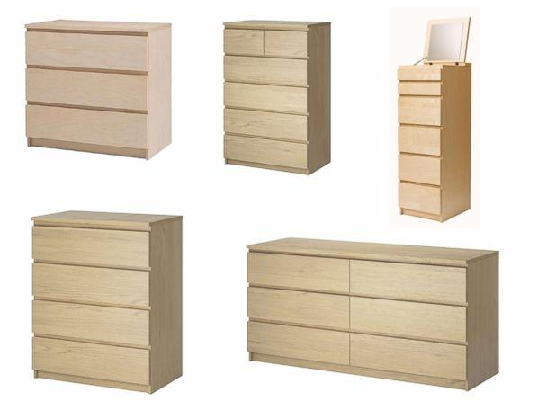 PHOTO: Chests and dressers from Ikea's MALM line have been recalled due to a tipping hazard, according to a release from the Consumer Product Safety Commission on Nov. 21, 2017. (CPSC)