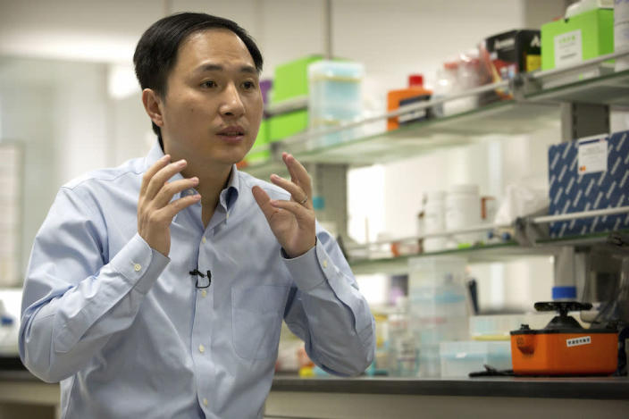 Chinese scientist He Jiankui claims he has genetically edited twin babies (Picture: AP)