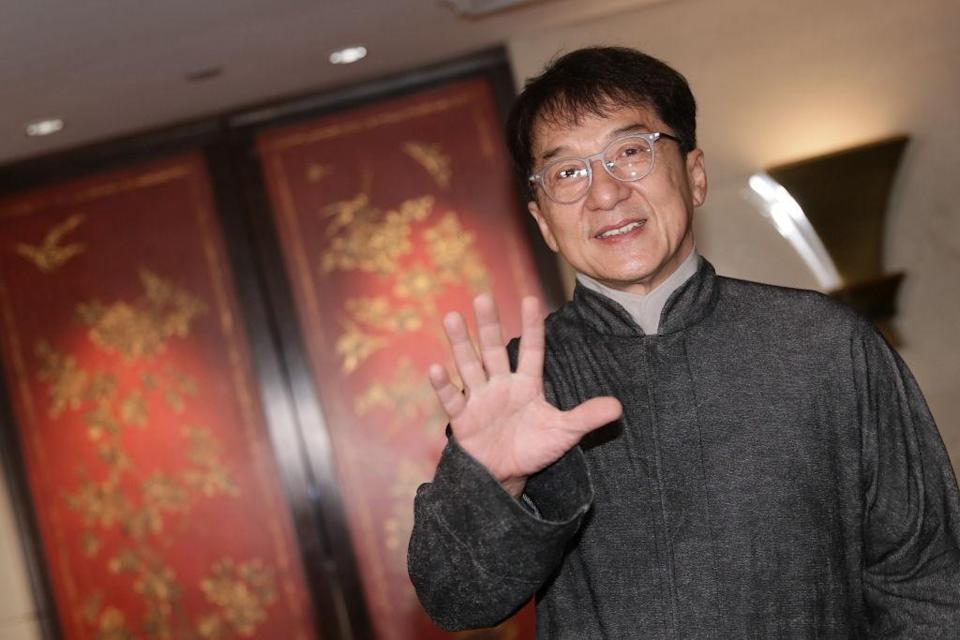 Jackie Chan attends a meeting during the Sichuan-Hong Kong Film & TV Cultural Exchange Day on Nov. 7, 2018, in Hong Kong. (Photo: VCG/VCG via Getty Images)