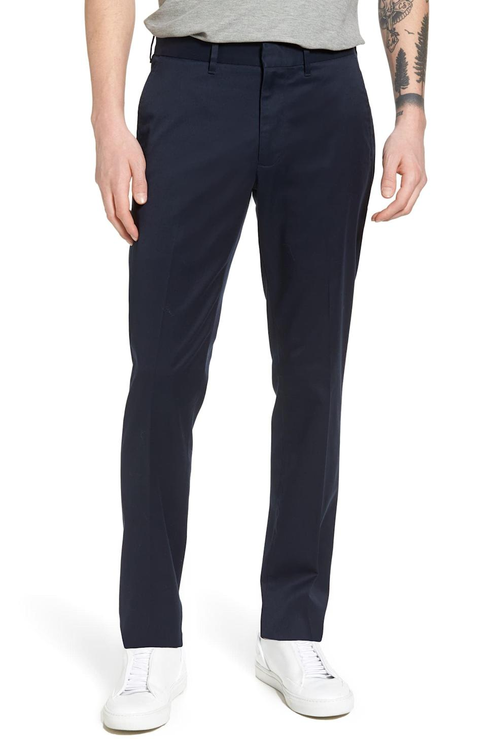 <p>These <span>Nordstrom Men's Shop Slim Fit Non-Iron Chinos</span> ($45, originally $90) are a pair of pants that will go with almost anything.</p>