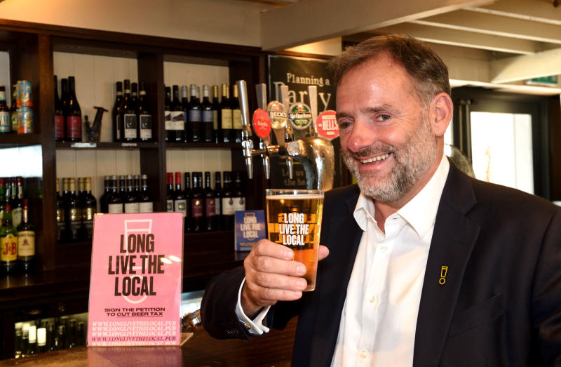 Ralph Findlay, CEO of Marston's at the Rack and Tenter pub in central London. Photo: Justin Goff/Goff Photos