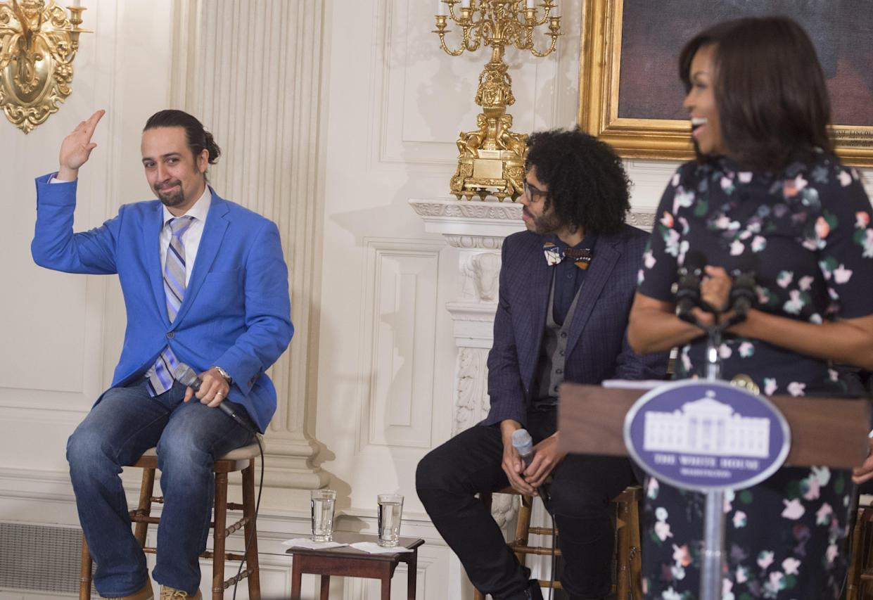 Lin-Manuel Miranda with Michelle Obama (Getty Images)