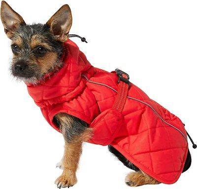 KONG Insulated Quilted Dog Barn Jacket, Red