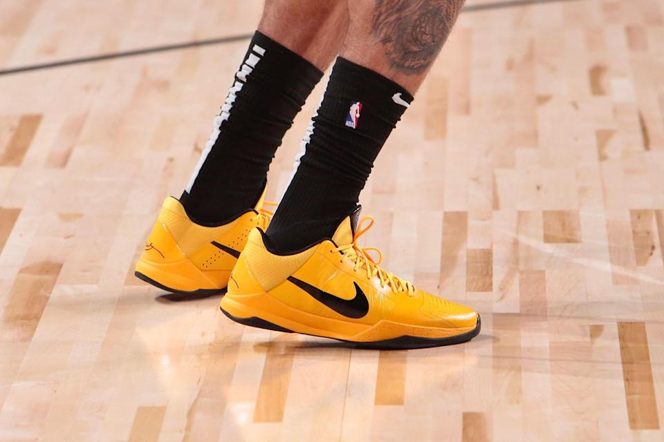 Anthony Davis breaks out his own Bruce Lees for a recent NBA Finals game.