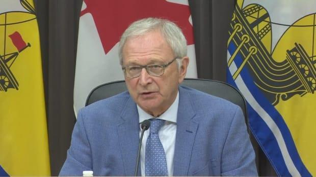 Premier Blaine Higgs said he wouldn't wait long before implementing mandatory vaccines for health-care workers. (CBC NB - image credit)