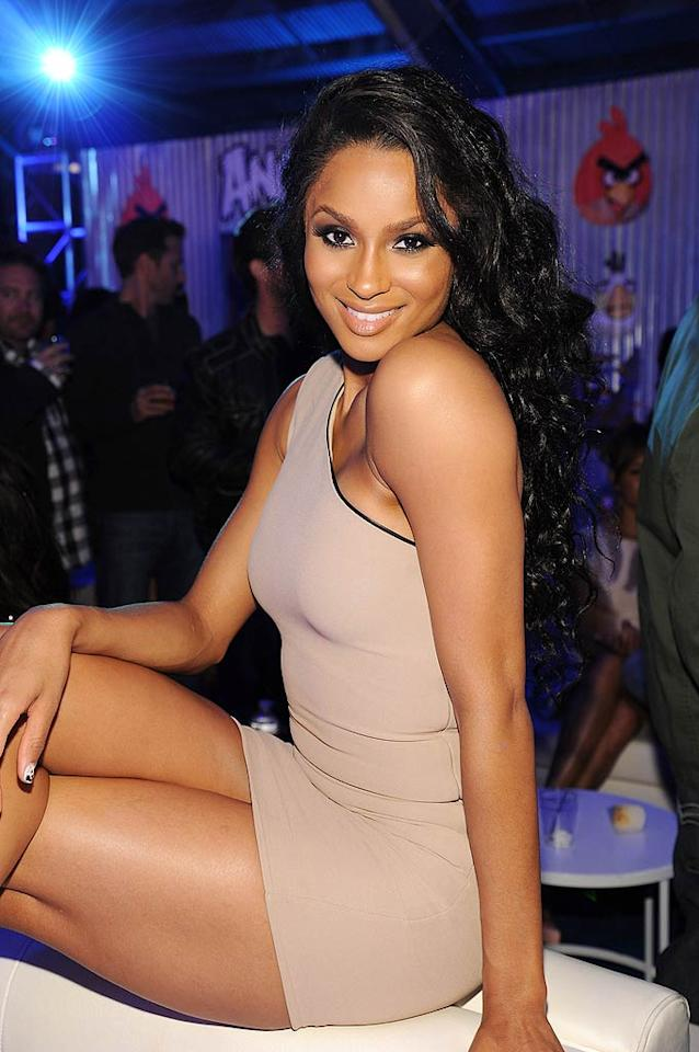 "Ciara looked gorgeous as always in a super short, one-shoulder frock. John Sciulli/<a href=""http://www.wireimage.com"" target=""new"">WireImage.com</a> - May 12, 2011"