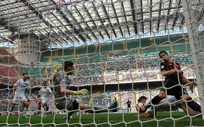 AC Milan in action last weekend - Credit: Getty Images