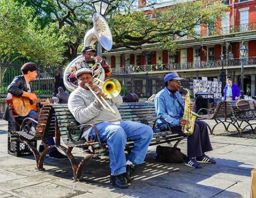 Jazz was born in Nola so be sure to check some out. There's always street artists performing. Source: Instagram/VisitNewOrlenans