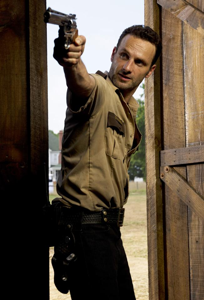 """<p><b>1. Rick Grimes (""""Walking Dead"""") </b><br><br> He let his son get shot in the woods, then once the boy was on his feet, he let him run wild and nearly get killed more times than we can even count. Also, his wife is pregnant, and he's done little to ensure the safety of that child ... well, aside from fatally shooting the other possible baby daddy. And those gunshots attracted a whole herd of walkers who nearly killed his entire family and everyone with them. Oh, and he gave Carl that ridiculous hat, which is unforgivable. He and Lori truly deserve each other. </p>"""