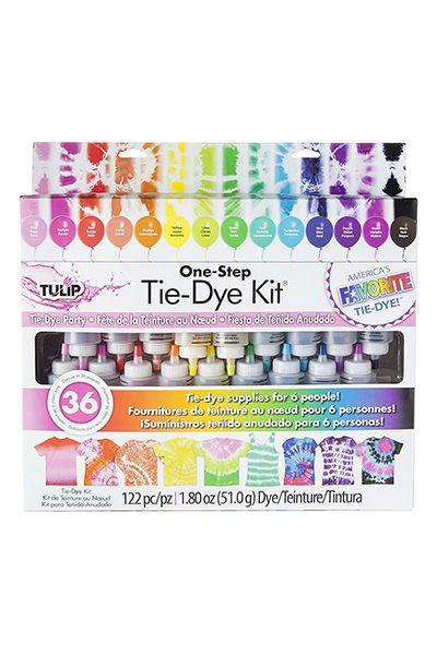 """<p>$17 for 18 colors</p><p><a rel=""""nofollow noopener"""" href=""""https://www.amazon.com/Tulip-32378-Step-18-Color-Tie-Dye/dp/B00KIN1JKE/ref=pd_ybh_a_14"""" target=""""_blank"""" data-ylk=""""slk:SHOP NOW"""" class=""""link rapid-noclick-resp"""">SHOP NOW</a><br></p><p>Nothing makes a kid feel prouder than wearing one of his or her own creations - <em>especially</em> when it features their favorite colors.</p>"""