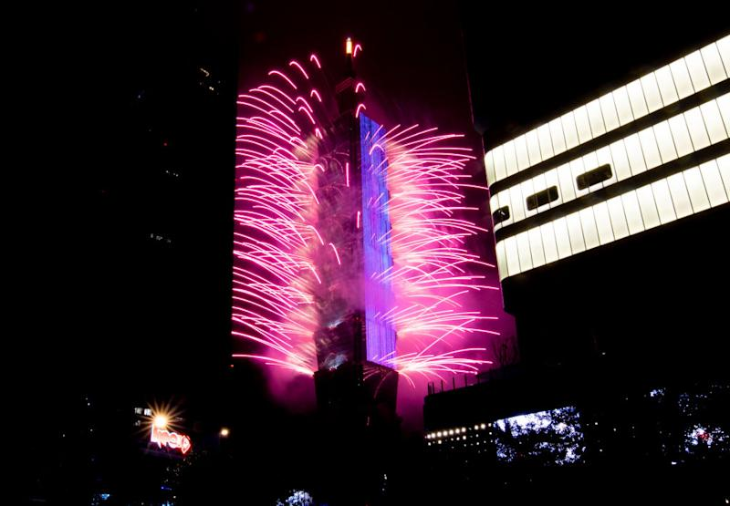 Fireworks light up the Taiwan skyline and Taipei 101 during New Years Eve celebrations on January 01, 2020 in Taipei, Taiwan. | Gene Wang—Getty Images