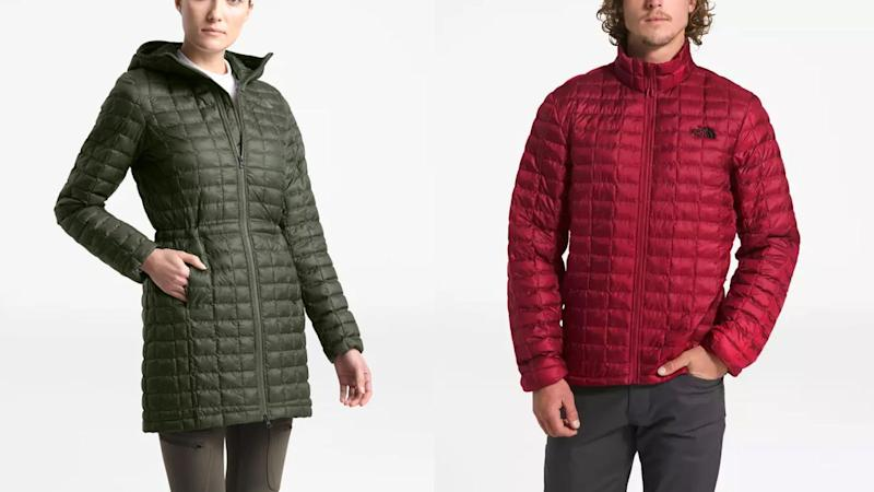 Bundle up in this insulated jacket.