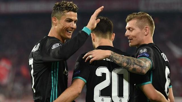 Real Madrid move a step closer to a third straight Champions League title after substitute Marco Asensio hit the winner in a 2-1 semi-final, first-leg victory at Bayern Munich.
