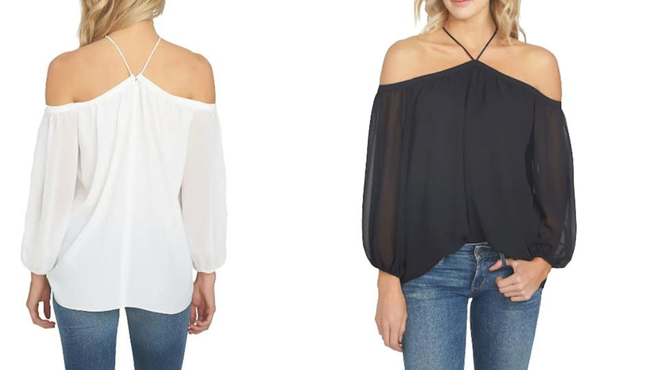 1.State Off the Shoulder Sheer Chiffon Blouse - Nordstrom, $47 (originally $79)