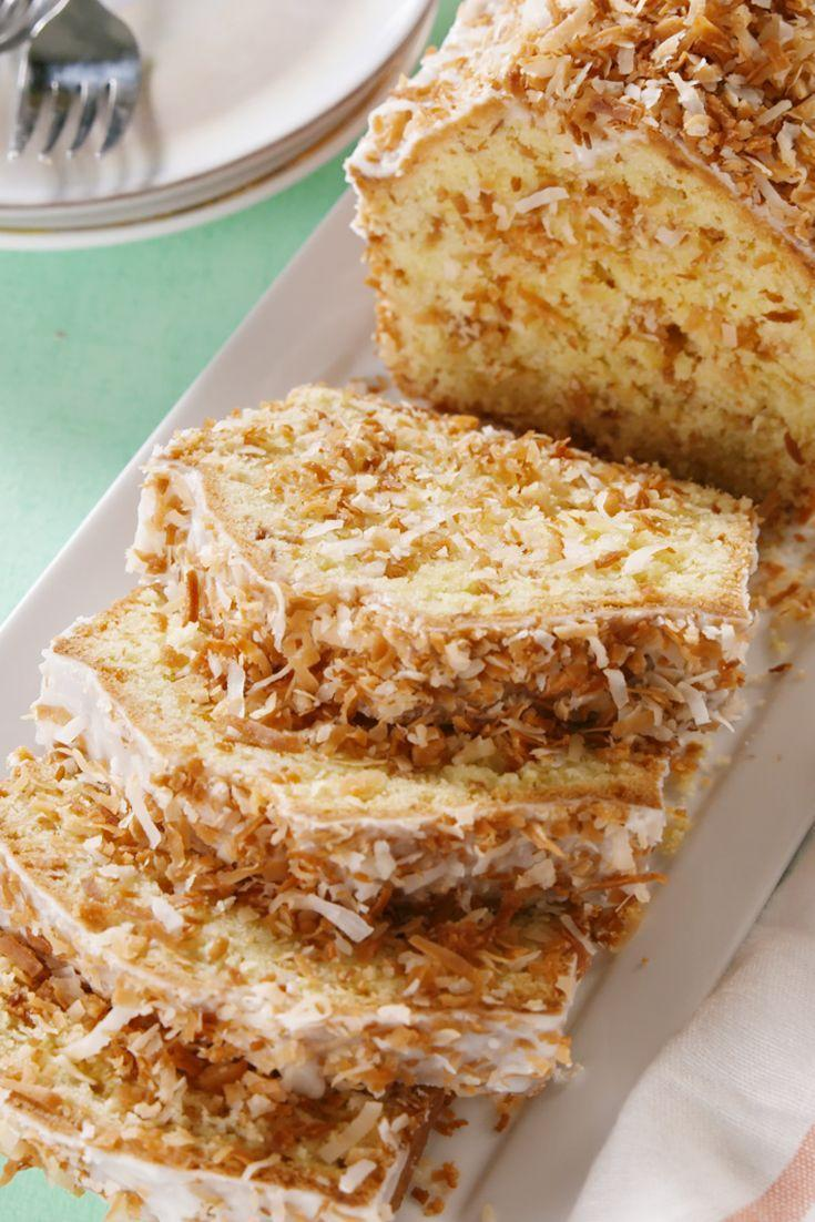"""<p>Your fam will go coco-nuts for this sweet pound cake.</p><p>Get the recipe from <a href=""""https://www.delish.com/cooking/recipe-ideas/a21731702/toasted-coconut-pound-cake-recipe/"""" rel=""""nofollow noopener"""" target=""""_blank"""" data-ylk=""""slk:Delish"""" class=""""link rapid-noclick-resp"""">Delish</a>. </p>"""