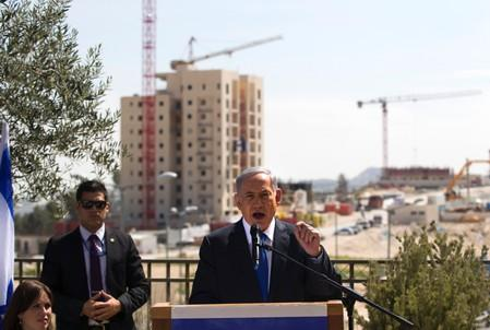 FILE PHOTO: Israeli Prime Minister Benjamin Netanyahu delivers statement in Har Homa