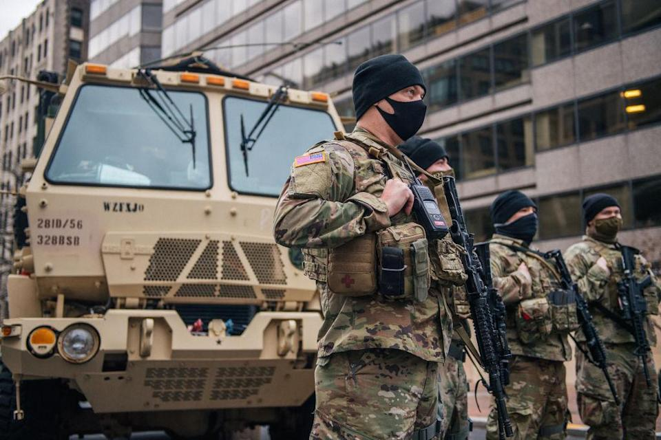 The National Guard has been called up in DC and several states throughout the country in preparation for potential violent protests at the federal and state capitols. (Getty Images)