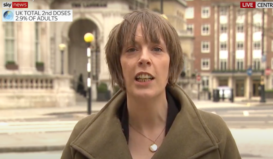 Jess Phillips talks about the government's strategy. (Sky News)