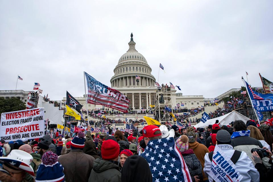 Trump supporters storm the U.S. Capitol in Washington, D.C., on Jan. 6, 2021.