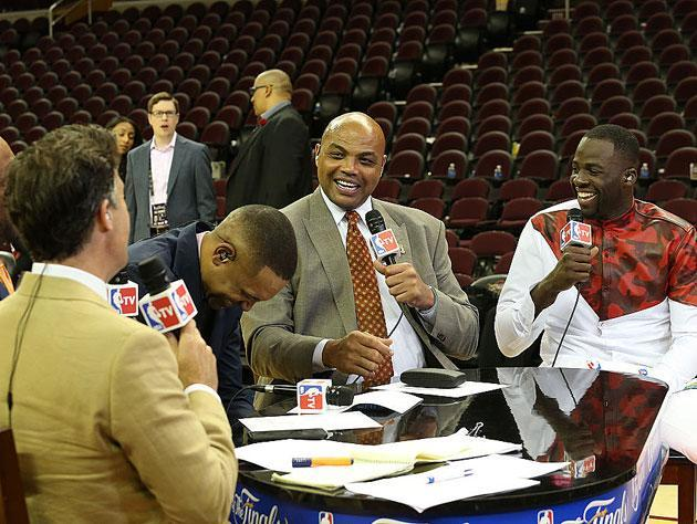 Charles Barkley holds court. (Getty Images)