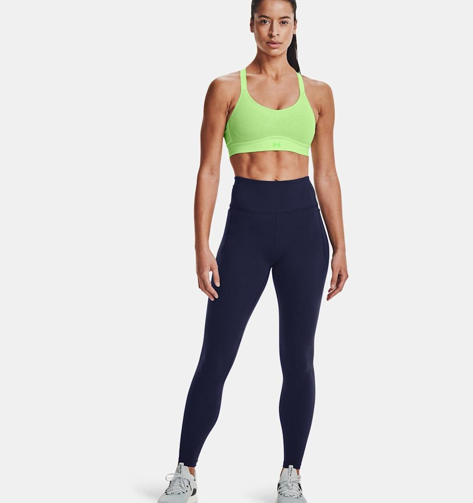 <p>These <span>Under Armour Meridian Leggings</span> ($70) have a discreet side pocket that's easy to store everything from your phone to keys.</p>