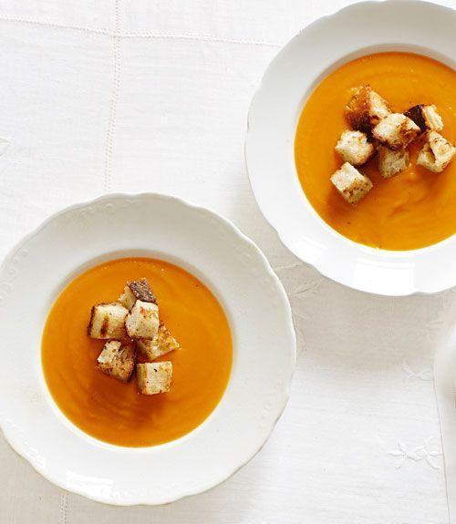 "<p>This quick soup is a great starter or simple dinner on a fall weeknight.</p><p><strong><a href=""https://www.countryliving.com/food-drinks/recipes/a34393/winter-squash-soup-recipe-ghk1113/"" rel=""nofollow noopener"" target=""_blank"" data-ylk=""slk:Get the recipe"" class=""link rapid-noclick-resp"">Get the recipe</a>.</strong></p><p><strong><a class=""link rapid-noclick-resp"" href=""https://www.amazon.com/Tramontina-80131-035DS-Enameled-5-5-Quart/dp/B077BHPZGC/?tag=syn-yahoo-20&ascsubtag=%5Bartid%7C10050.g.3569%5Bsrc%7Cyahoo-us"" rel=""nofollow noopener"" target=""_blank"" data-ylk=""slk:SHOP DUTCH OVENS"">SHOP DUTCH OVENS</a><br></strong></p>"