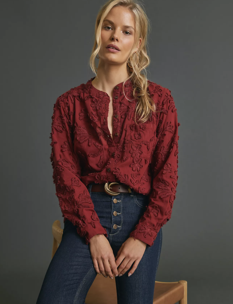 The Whitney Textured Trapeze Buttondown - Anthropologie, $60 (originally $118)