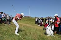 Rory McIlroy was followed by a huge crowd during his third round at the British Open on Saturday