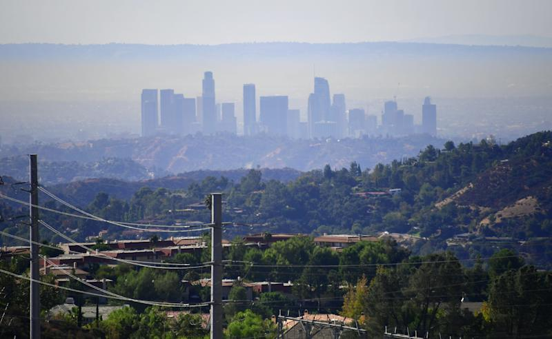 Air pollution in Los Angeles has gotten worse in the last couple of years. (FREDERIC J. BROWN via Getty Images)