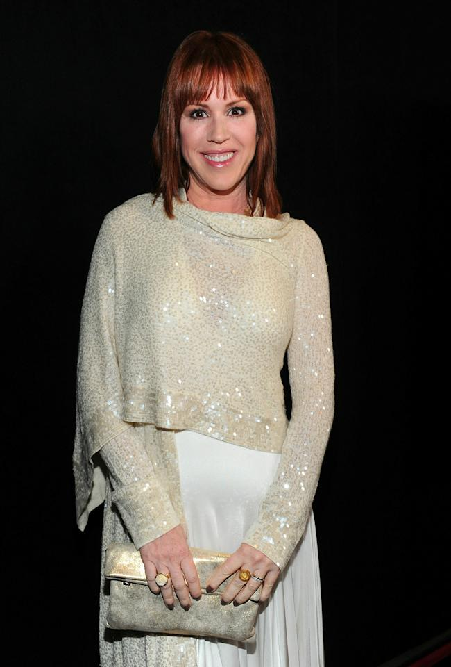 CENTURY CITY, CA - JANUARY 15:  Actress Molly Ringwald arrives at the 36th Annual Los Angeles Film Critics Association Awards at the InterContinental Hotel on January 15, 2011 in Century City, California.  (Photo by Alberto E. Rodriguez/Getty Images)