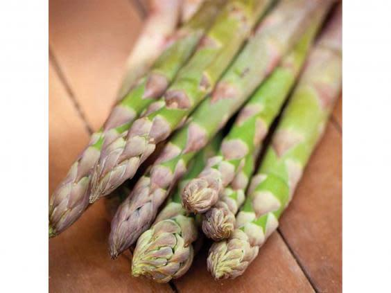 If you're fortunate to have a big enough space to fit a greenhouse, try growing asparagus (Thompson Morgan )
