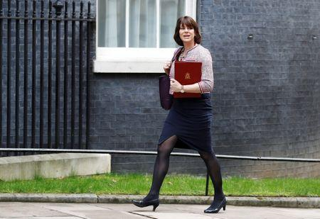 Britain's Minister of State for Energy and Clean Growth Claire Perry arrives In Downing Street in London, March 6, 2018. REUTERS/Peter Nicholls