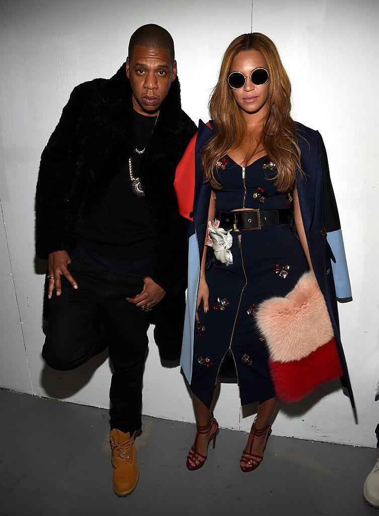 <p>The Carters supported longtime friend and collaborator Kanye West at his Adidas X Yeezy show during NYFW.</p>