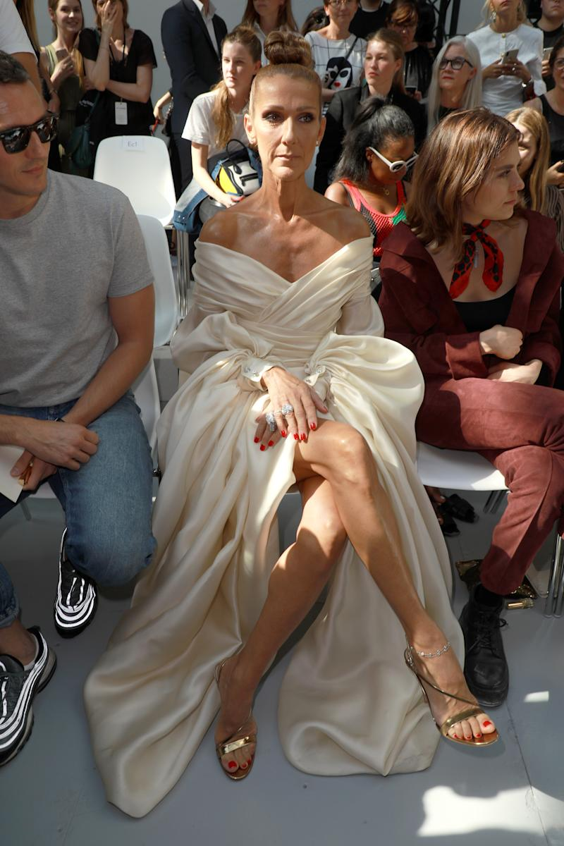 PARIS, FRANCE - JULY 02: Celine Dion attends the Alexandre Vauthier Haute Couture Fall/Winter 2019 2020 show as part of Paris Fashion Week on July 02, 2019 in Paris, France. (Photo by Pierre Suu/Getty Images)