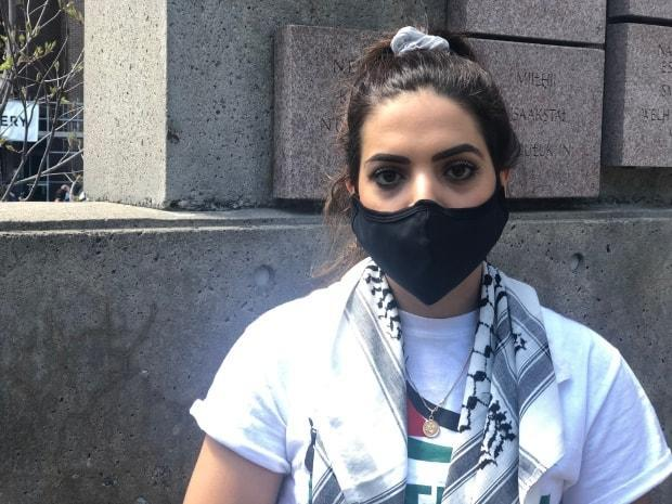 Janan Arafa, who has family living in the Gaza Strip, was one of the organizers of Saturday's rally.