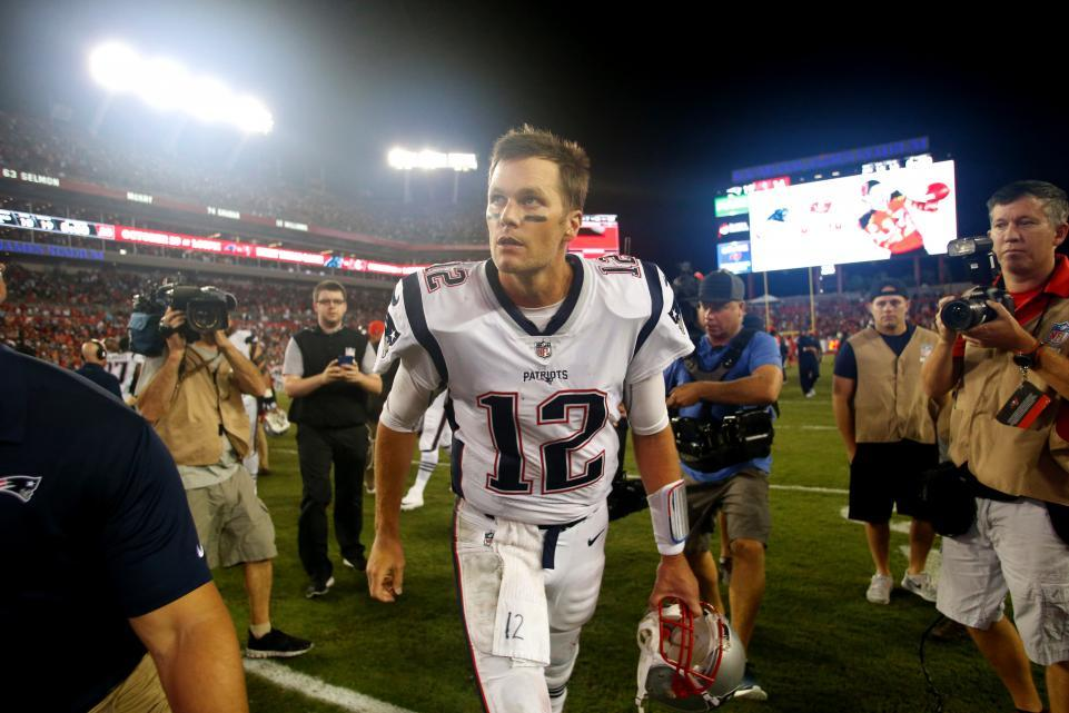Quarterback Tom Brady of the New England Patriots