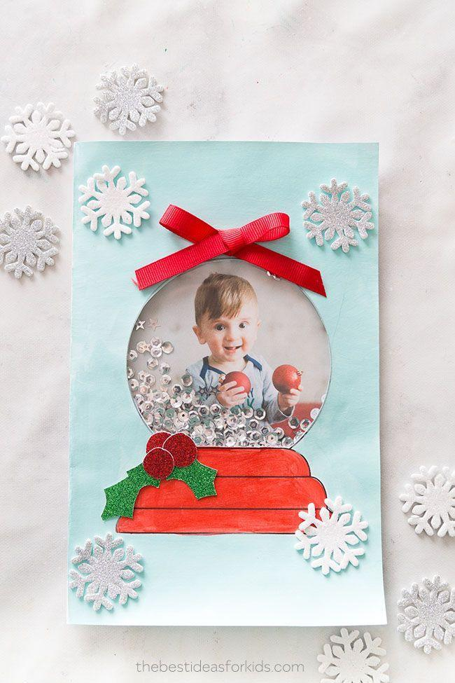 """<p>You only need a few simple craft supplies—namely, sequins and transparent plastic sheets, to mimic the look of a working snow globe starring any photo you choose.</p><p><em>Get the tutorial at <a href=""""https://www.thebestideasforkids.com/snow-globe-template/"""" rel=""""nofollow noopener"""" target=""""_blank"""" data-ylk=""""slk:The Best Ideas for Kids"""" class=""""link rapid-noclick-resp"""">The Best Ideas for Kids</a>.</em></p><p><a class=""""link rapid-noclick-resp"""" href=""""https://www.amazon.com/Snowflake-Confetti-Glitter-Sequins-Decoration/dp/B07X8QG2L6?tag=syn-yahoo-20&ascsubtag=%5Bartid%7C10072.g.34351112%5Bsrc%7Cyahoo-us"""" rel=""""nofollow noopener"""" target=""""_blank"""" data-ylk=""""slk:SHOP SNOWFLAKE SEQUINS"""">SHOP SNOWFLAKE SEQUINS</a></p>"""