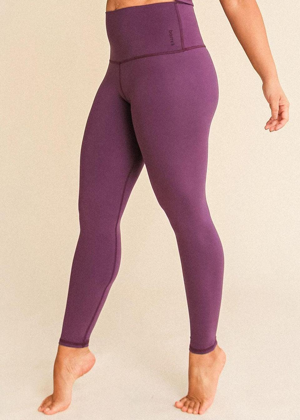 """<p>""""I've worn the <span>Barre3 Purple Sky Signature Legging</span> ($91) twice this week after the brand gifted me a pair, and they're probably the most flattering things I've put on my body in a year. The high waistline hits just right, and the fabric is incredibly soft and comfortable. No sagging at the crotch, either!"""" - MR</p>"""