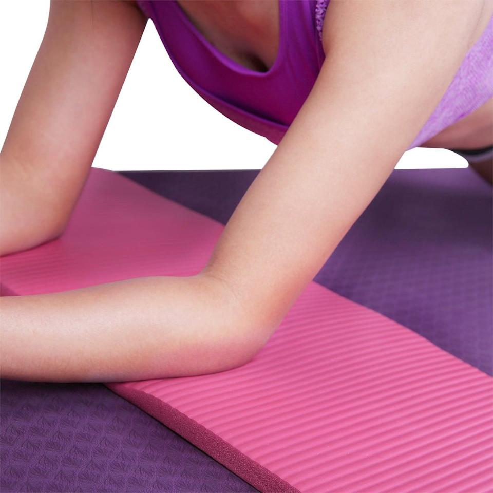 """<p>If you love doing at-home yoga, this <a href=""""https://www.popsugar.com/buy/HDE-Thick-Anti-Slip-Pad-409373?p_name=HDE%20Thick%20Anti-Slip%20Pad&retailer=walmart.com&pid=409373&price=12&evar1=fit%3Aus&evar9=46418649&evar98=https%3A%2F%2Fwww.popsugar.com%2Fphoto-gallery%2F46418649%2Fimage%2F46418657%2FHDE-Thick-Anti-Slip-Pad&list1=shopping%2Cfitness%20gear%2Chome%20workouts%2Cfitness%20shopping&prop13=api&pdata=1"""" class=""""link rapid-noclick-resp"""" rel=""""nofollow noopener"""" target=""""_blank"""" data-ylk=""""slk:HDE Thick Anti-Slip Pad"""">HDE Thick Anti-Slip Pad</a> ($12) is great for your elbows and knees.</p>"""