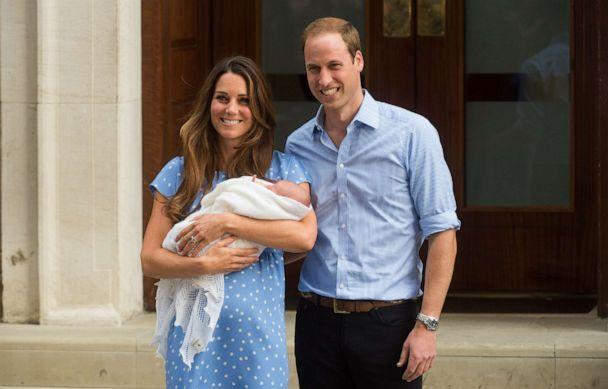 PHOTO: Catherine, Duchess of Cambridge and Prince William, Duke of Cambridge leave The Lindo Wing of St Mary's Hospital with their newborn son at St Mary's Hospital on July 23, 2013, in London. (Samir Hussein/WireImage via Getty Images, FILE)