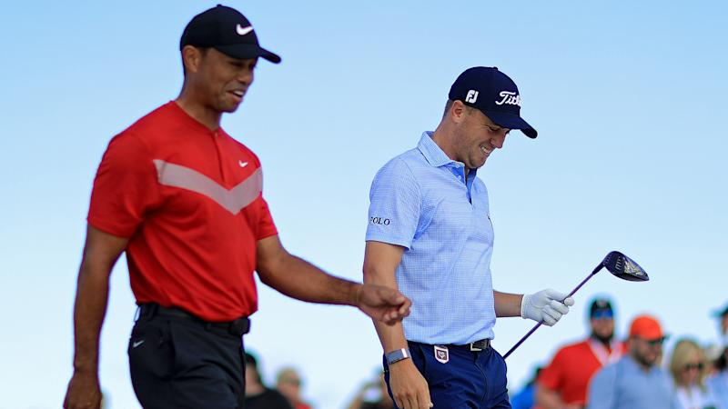 Justin Thomas: Tiger Woods is 'scared to come out and play against all of us'
