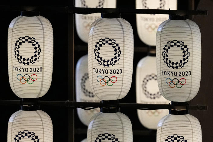 <p>Lanterns are displayed during the opening ceremony in the Olympic Stadium at the 2020 Summer Olympics, Friday, July 23, 2021, in Tokyo, Japan. (AP Photo/David J. Phillip)</p>