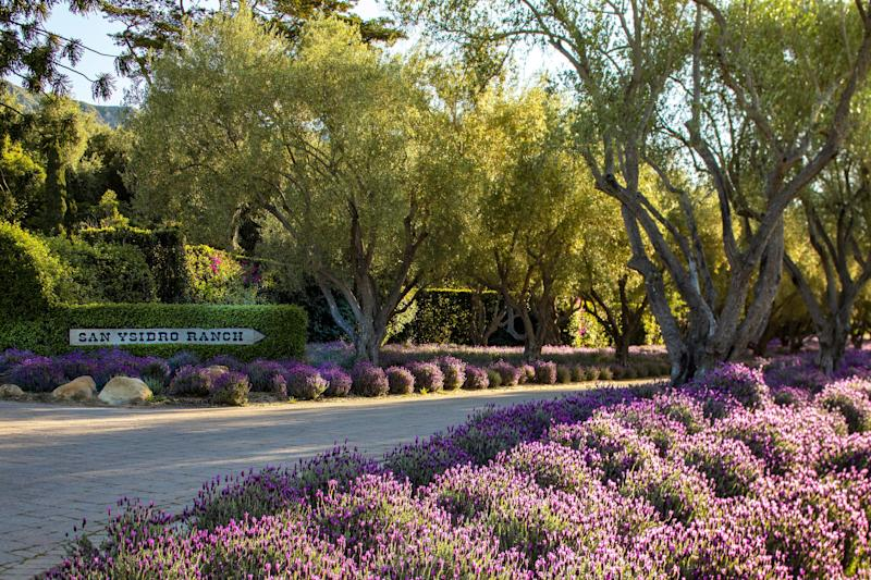 The entrance to San Ysidro Ranch in Montecito, California.