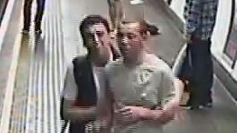Police hunt men who released 'tear gas' on a Tube train