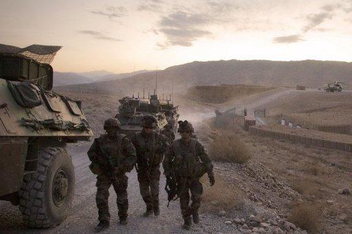 French soldiers from the 1st Infantry Regiment near the Nijrab base last December. Kapisa province, which controls part of the access to Kabul from Taliban flashpoints on the Pakistani border, has proved a tough fight for the French, troubled by turf wars between the Islamist insurgents and drug dealers