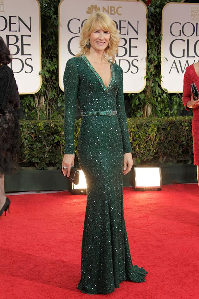 Laura Dern arrives at the 69th Annual Golden Globe Awards in Beverly Hills, California, on January 15.